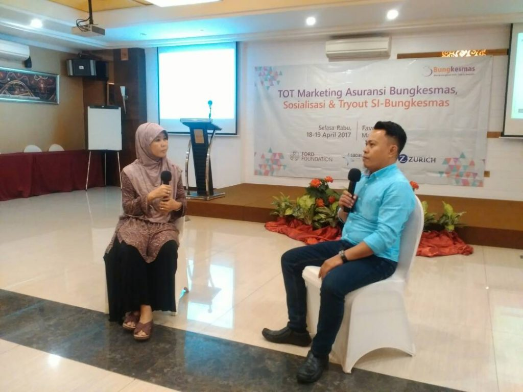 Training of Trainer Marketing asuransi Bungkesmas dan sosialisasi Si Bungkesmas
